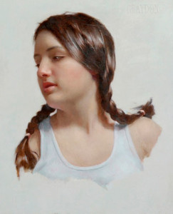 Young Woman Turning to Her Right
